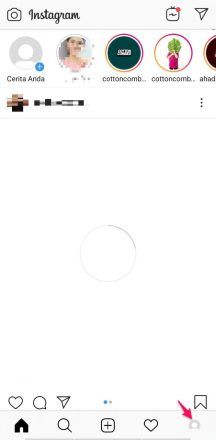 cara menambah akun di instagram