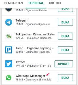 memperbarui aplikasi play store