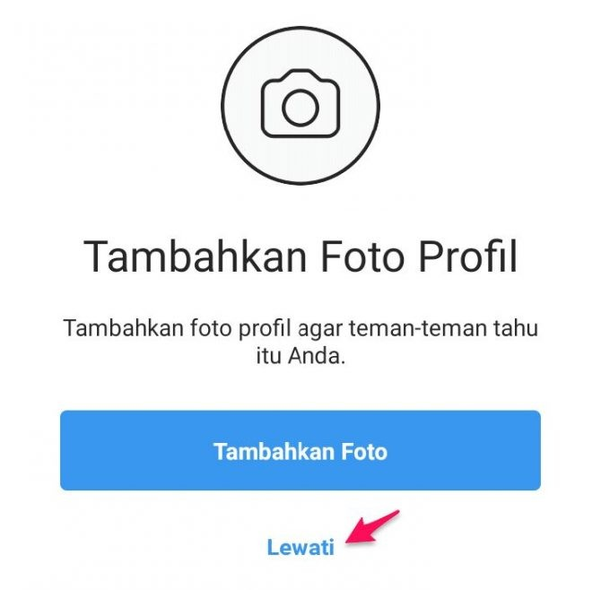 menambah akun di instagram