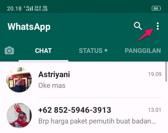 cara melihat barcode whatsapp di hp sendiri